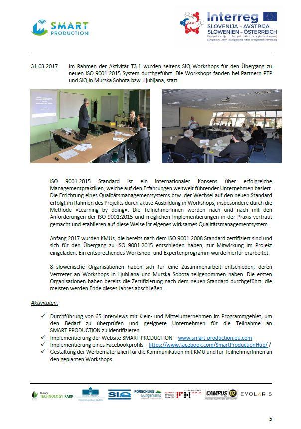 Die zweite E-news des Interreg SI-AT Projekts von SMART PRODUCTION