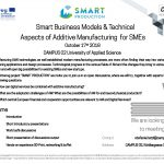 """Smart Business Models & Technical Aspects of Additive Manufacturing for SMEs"" – Campus 02, 17. 10. 2018"